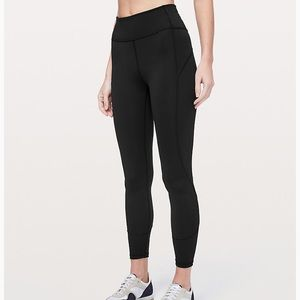 Black lulu lemons athletic leggings